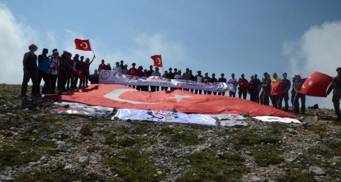 15 Temmuz Şehitleri için Ilgaz Dağına tırmandılar