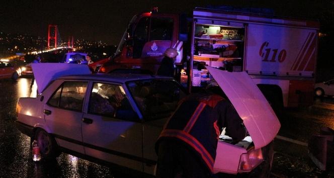 15 Temmuz Şehitler Köprüsünde trafik kazası: 2 yaralı