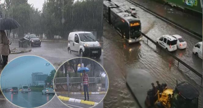 İstanbulda sağanak yağış etkili oluyor - 18 Temmuz 2017