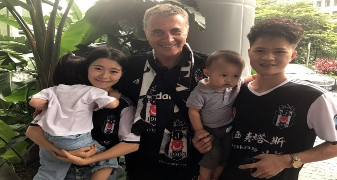 Fikret Orman'I Guangzhou'da taraftarlar karşıladı