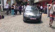 CHPli Milletvekili Pekşen ile Ortahisar Kaymakamı arasında yol ortasında park tartışması