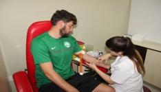 Sivas Belediyesporda futbolcular sağlık kontrolünden geçti