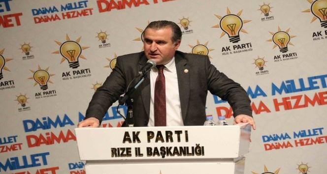 Rizeli Milletvekili Osman Aşkın Bakın Gençlik ve Spor Bakanı olmasından mutlu