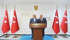 """Vali Demirtaştan Osmaniye Valisi Coşkuna """"hayırlı olsun"""" ziyareti"""