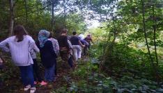 Köylüler turizmin gelişmesi için doğa yürüyüşü parkurunu temizledi