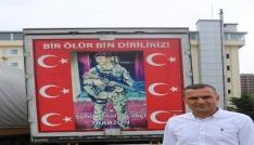 Tuncelide Türk bayrağı asarken teröristlerin taciz ateşine uğrayan Abdullah Özer o anları anlattı