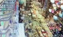 Bodrumda deprem anı böyle görüntülendi