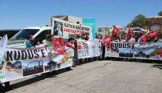Nevşehirde İsrail protesto edildi