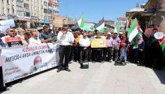 Sivas ve Yozgatta İsrail protestosu