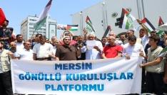 Mescid-i Aksanın ibadete kapatılması Mersinde protesto edildi