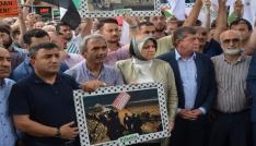 Trabzonda İsrail protestosu