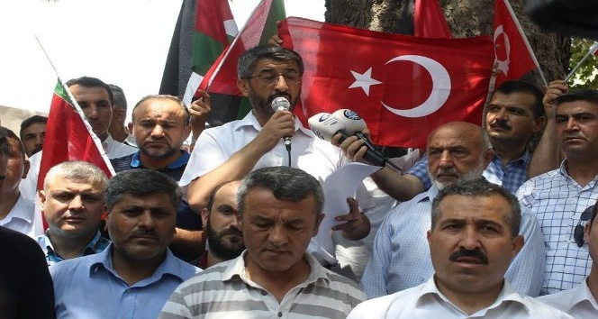 Osmaniyede İsrail protesto edildi