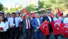 """Tuncelide Terörü Protesto Yürüyüşü"""""""