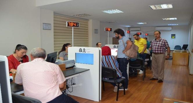 Trabzonda çipli kimlik kartı sahibi 35 bine yaklaştı