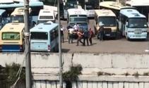 Zonguldakta dolmuş durağında silahlı kavga