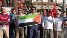 Bandırmada Kudüs protestosu