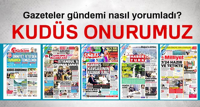 24 Temmuz 2017 Pazartesi günün gazete manşetleri