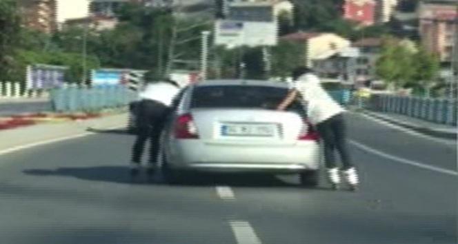 Trafikte tehlikeli oyun
