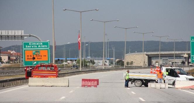TEM Otoyolu İstanbul istikametinde çalışma başladı