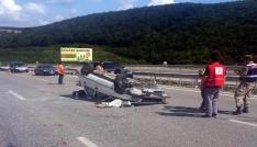 Hastane dönüşü kaza: 3 yaralı