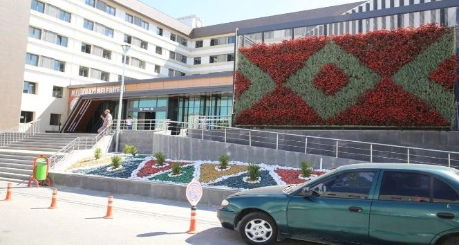 Melikgazi Belediyesinden duvarlara çiçek panosu