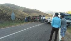 Suşehrinde minibüs devrildi: 1 yaralı
