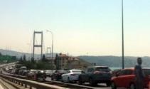 15 Temmuz Şehitler Köprüsünde trafik yoğunluğu