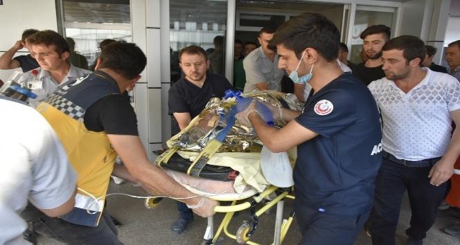 Baca temizlerken elektrik akımına kapılan yaşlı adam ağır yaralandı