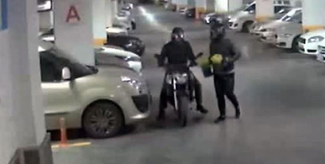 Lüks sitede motosiklet hırsızlığı kamerada