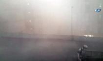 İstanbulda fırtına böyle geldi