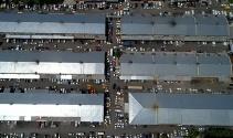İstanbulda oto sanayilerde oluşan yoğunluk havadan görüntülendi