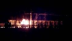 Erzincan OSBde trafo yangını