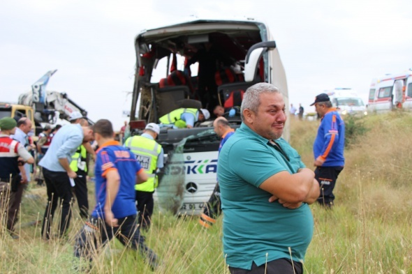Amasya'da otobüs kazası: 6 ölü, 35 yaralı