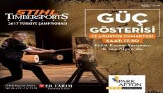 """""""Stıhl Tımbersports Türkiye Şampiyonası"""" Park Afyon Alışveriş Merkezinde yapılacak"""