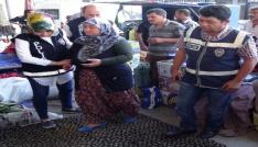 ByLock şüphelisi kadın semt pazarında sebze satarken yakalandı
