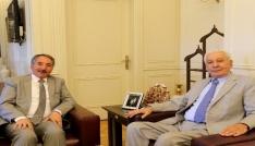 Sağlık eski Bakanı Eryılmazdan Rektör Karabuluta ziyaret