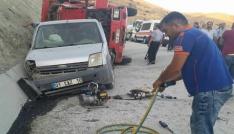 Tuncelide trafik kazası:2 yaralı