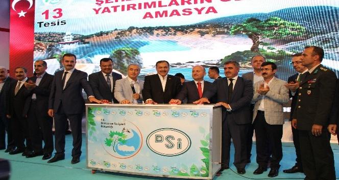Bakan Eroğlu Amasya'da 126 milyon TL'lik tesislerin temelini attı