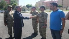 Vali Elbandan İl Jandarma Komutanı Şahine ziyaret