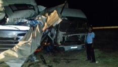 Nusaybinde trafik kazası: 1 ölü, 1 yaralı