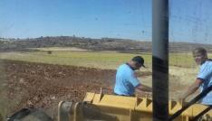 Midyatta yangın 50 dönümlük araziye zarar verdi