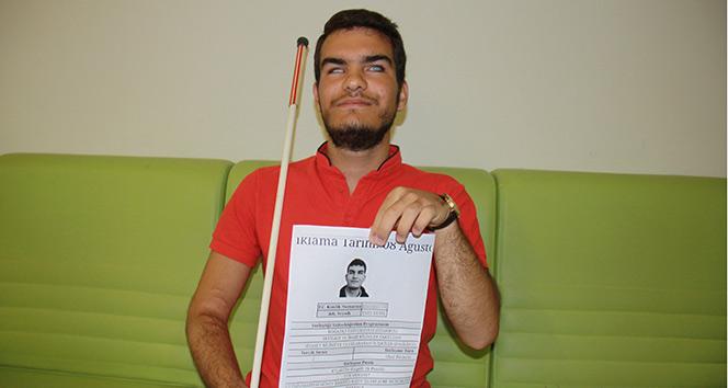 Görme engelli öğrenciden Boğaziçi Üniversitesi başarısı