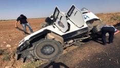 Nusaybin de zırhlı araç devrildi
