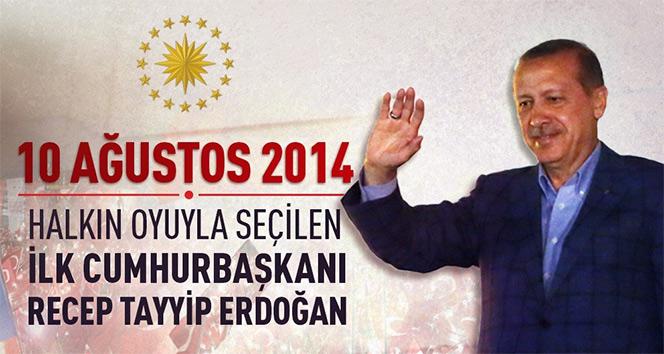 Erdoğan, halkın oyu ile Cumhurbaşkanı seçileli 3 yıl oldu