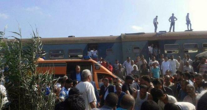 Mısır'daki tren kazasında ölü sayısı 50'ye yükseldi
