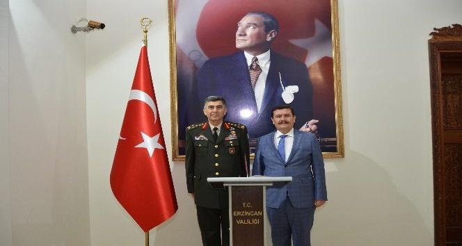 Kara Kuvvetleri Komutanı Orgeneral Çolaktan Vali Arslantaşa veda ziyareti