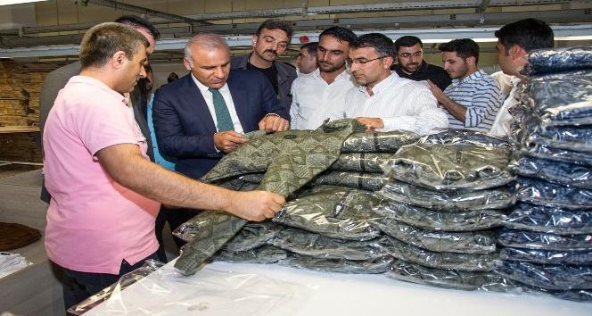 Vali Zorluoğlu tekstil kentte