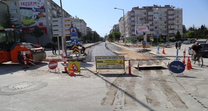 Ereğli'de İstasyon Caddesi yenileniyor