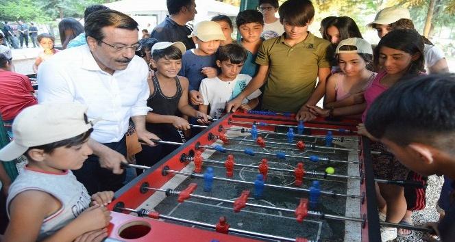 Başkan Atilla, Çocuk Yaz Kampı'nda çocuklarla buluştu