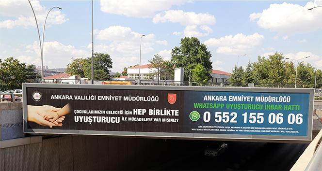 Ankara Emniyeti, uyuşturucu ile WhatsApp ihbar hattından mücadele edecek